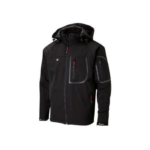 Lee Cooper Work Jacket Softshell LCJKT407W Black
